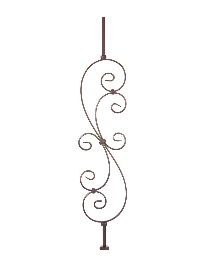Solid forged steel stair baluster - B 010 - B SERIES