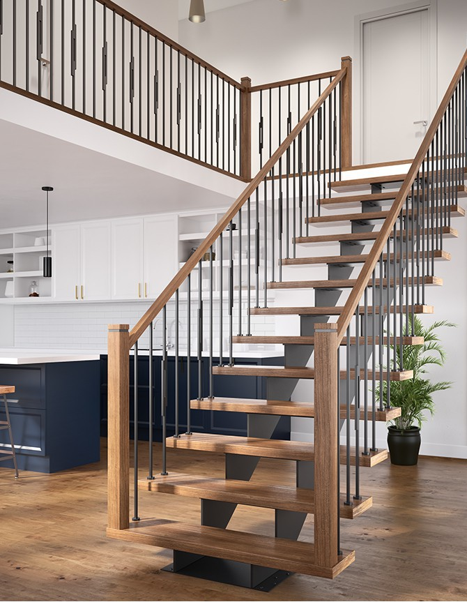 Steel stair stringer -  LOS SERIES - OSLO