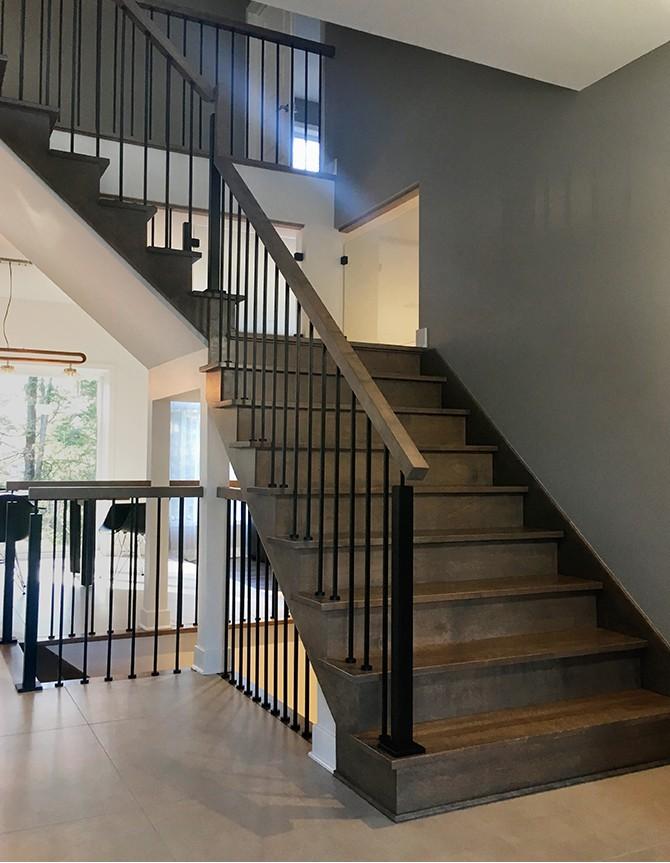 Escalier bois et acier forgé PTC 200